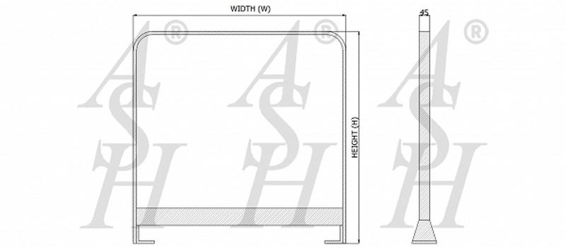 ash1120fffcolg-pedestrian-barrier-technical-drawing-ash-door-furniture-specialists