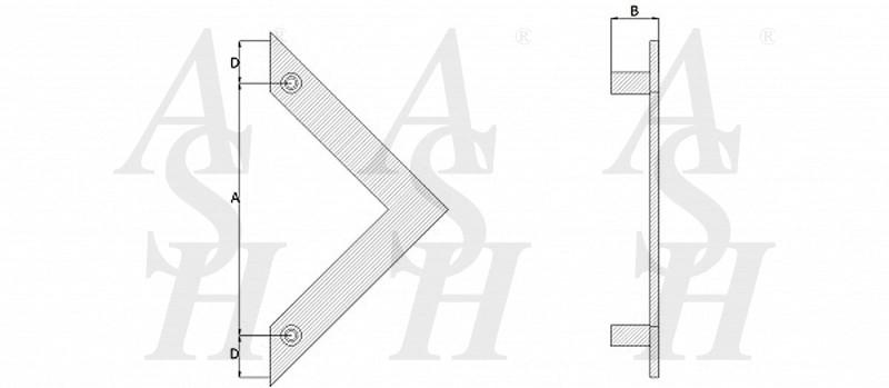 ash128-cranked-pull-door-handle-technical-drawing-ash-door-furniture-specialists-wm