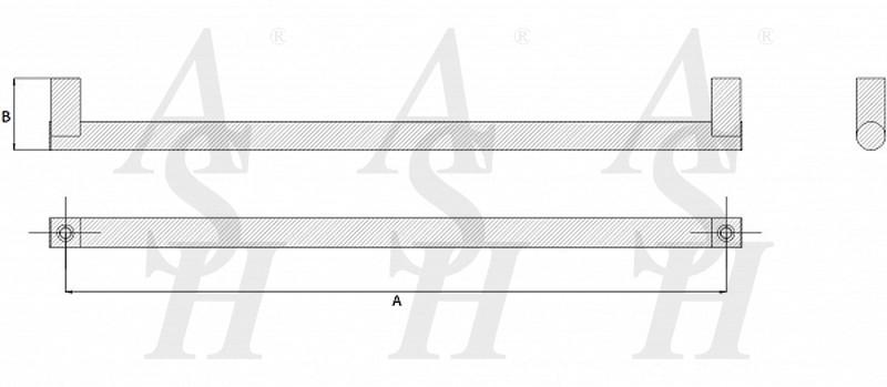 ash272-straight-pull-door-handle-technical-drawing-ash-door-furniture-specialists-wm
