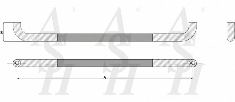 ash400fg-combi-pull-door-handle-technical-drawing-ash-door-furniture-specialists-wm