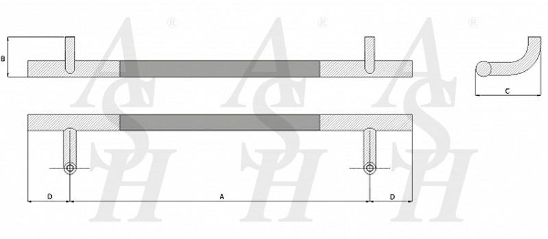 ash420fg-combi-pull-door-handle-technical-drawing-ash-door-furniture-specialists-wm