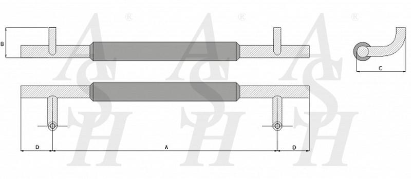 ash420tg-combi-pull-door-handle-technical-drawing-ash-door-furniture-specialists-wm