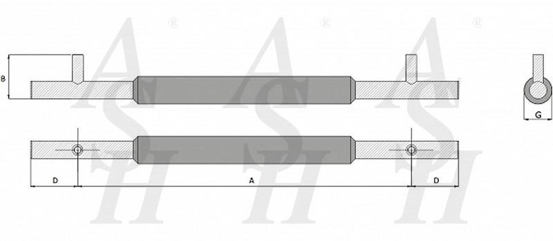 ash421tg-combi-pull-door-handle-technical-drawing-ash-door-furniture-specialists-wm
