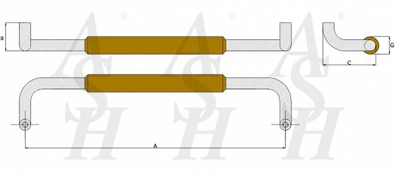 ash503tg-timber-pull-door-handle-technical-drawing-ash-door-furniture-specialists-wm