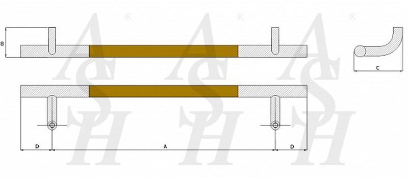 ash520fg-timber-pull-door-handle-technical-drawing-ash-door-furniture-specialists-wm