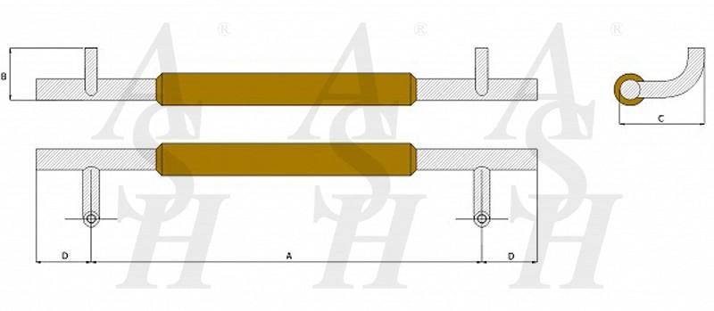 ash520tg-timber-pull-door-handle-technical-drawing-ash-door-furniture-specialists-wm