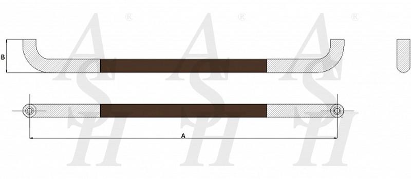 ash600-leather-clad-pull-door-handle-technical-drawing-ash-door-furniture-specialists-wm
