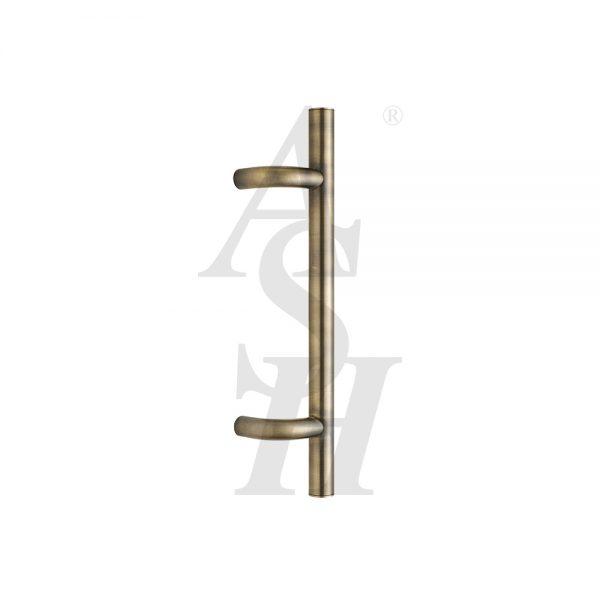ash120-antique-brass-antimicrobial-cranked-pull-door-handle-ash-door-furniture-specialists-wm
