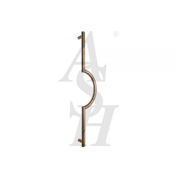 ash125-antique-brass-cranked-pull-door-handle-ash-door-furniture-specialists