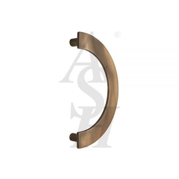 ash238-antique-brass-curved-cranked-plate-pull-door-handle-ash-door-furniture-specialists