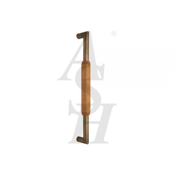 ash506tg-antique-brass-timber-pull-door-handle-ash-door-furniture-specialists