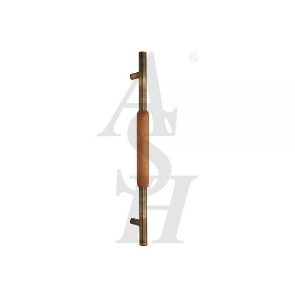 ash521tg-antique-brass-timber-pull-door-handle-ash-door-furniture-specialists